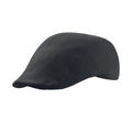 Black - Front - Atlantis Swing Brushed Cotton Flat Cap