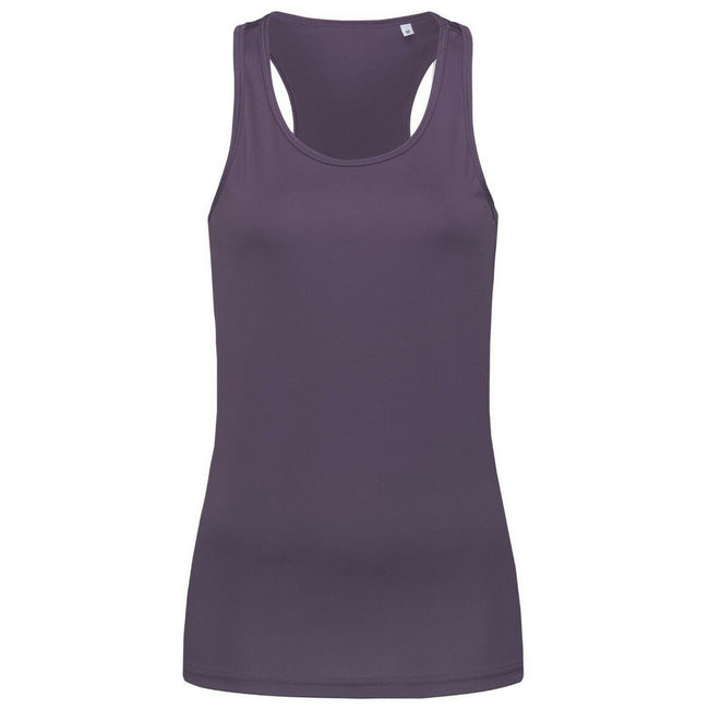 Sweet Pink - Front - Stedman Womens-Ladies Active Poly Sleeveless Sports Vest