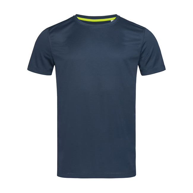 Cyber Yellow - Front - Stedman Mens Set In Mesh T-Shirt