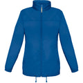 Royal Blue - Front - B&C Womens-Ladies Sirocco Lightweight Windproof, Showerproof & Water Repellent Jacket