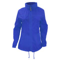 Royal Blue - Side - B&C Womens-Ladies Sirocco Lightweight Windproof, Showerproof & Water Repellent Jacket