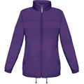 Purple - Front - B&C Womens-Ladies Sirocco Lightweight Windproof, Showerproof & Water Repellent Jacket