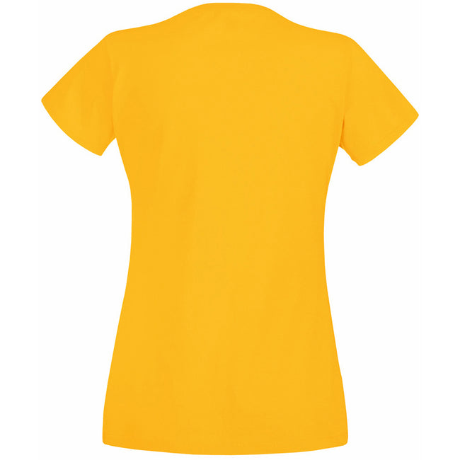 Sunflower - Back - Fruit Of The Loom Ladies-Womens Lady-Fit Valueweight Short Sleeve T-Shirt
