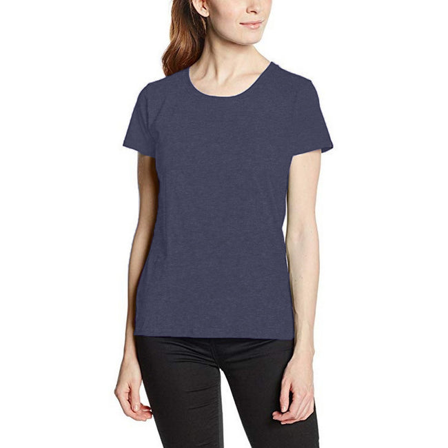 Heather Purple - Back - Fruit Of The Loom Ladies-Womens Lady-Fit Valueweight Short Sleeve T-Shirt