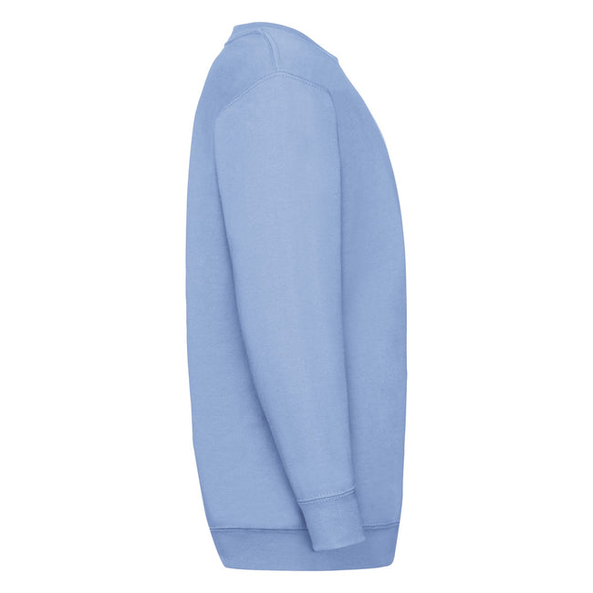 Sky Blue - Back - Fruit Of The Loom Childrens Unisex Set In Sleeve Sweatshirt