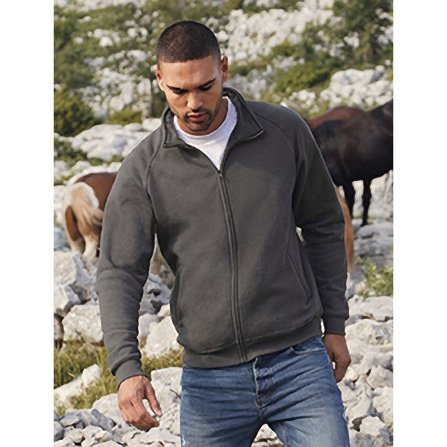 Light Graphite - Side - Fruit Of The Loom Mens Sweatshirt Jacket