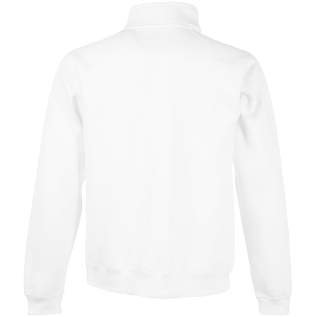 White - Back - Fruit Of The Loom Mens Sweatshirt Jacket