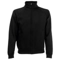 Black - Front - Fruit Of The Loom Mens Sweatshirt Jacket