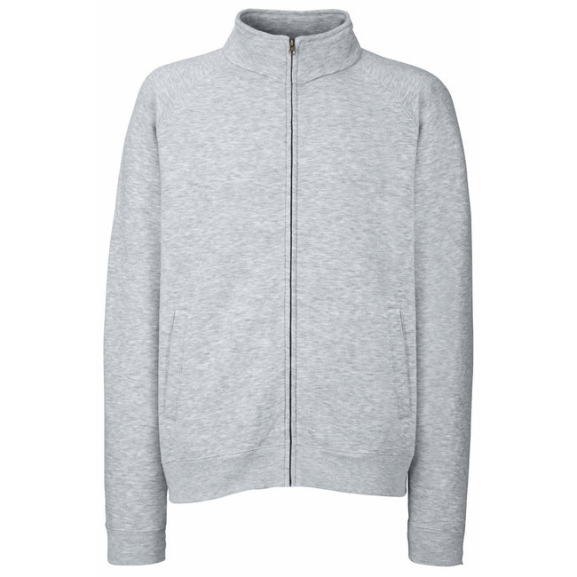 Heather Grey - Front - Fruit Of The Loom Mens Sweatshirt Jacket