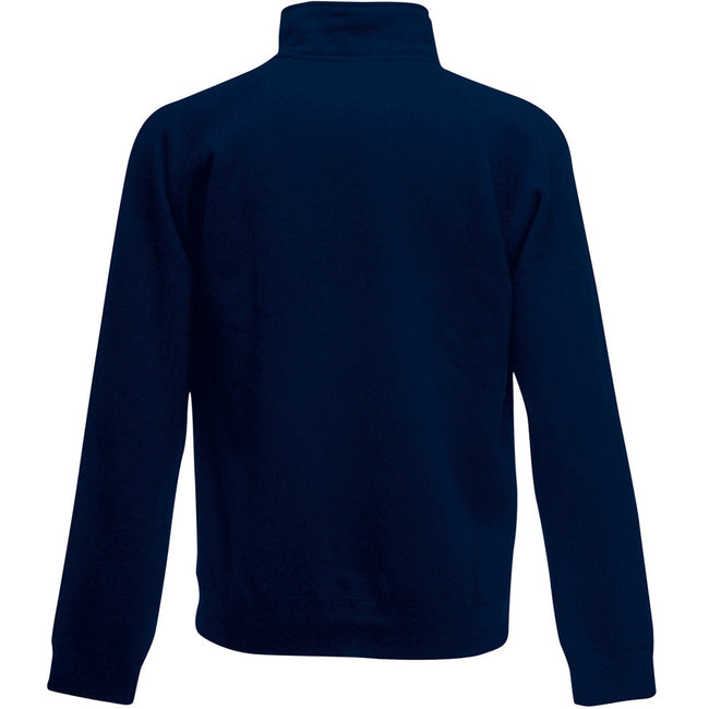 Deep Navy - Back - Fruit Of The Loom Mens Sweatshirt Jacket