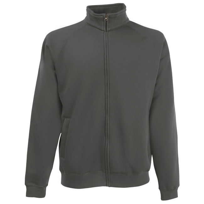 Light Graphite - Front - Fruit Of The Loom Mens Sweatshirt Jacket