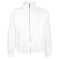 White - Front - Fruit Of The Loom Mens Sweatshirt Jacket
