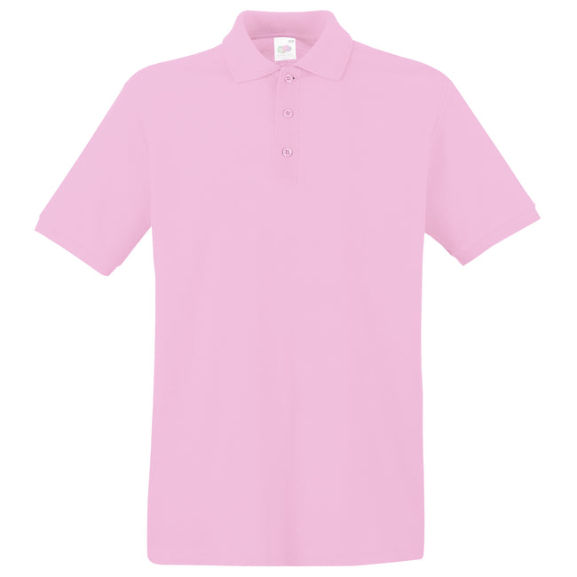 Bottle Green - Front - Fruit Of The Loom Premium Mens Short Sleeve Polo Shirt