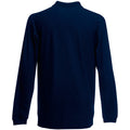Deep Navy - Back - Fruit Of The Loom Mens Premium Long Sleeve Polo Shirt