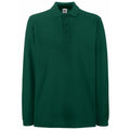 Forest Green - Front - Fruit Of The Loom Mens Premium Long Sleeve Polo Shirt