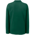 Forest Green - Back - Fruit Of The Loom Mens Premium Long Sleeve Polo Shirt