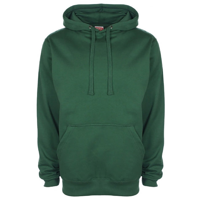 Forest Green - Front - FDM Unisex Plain Original Hooded Sweatshirt - Hoodie (300 GSM)