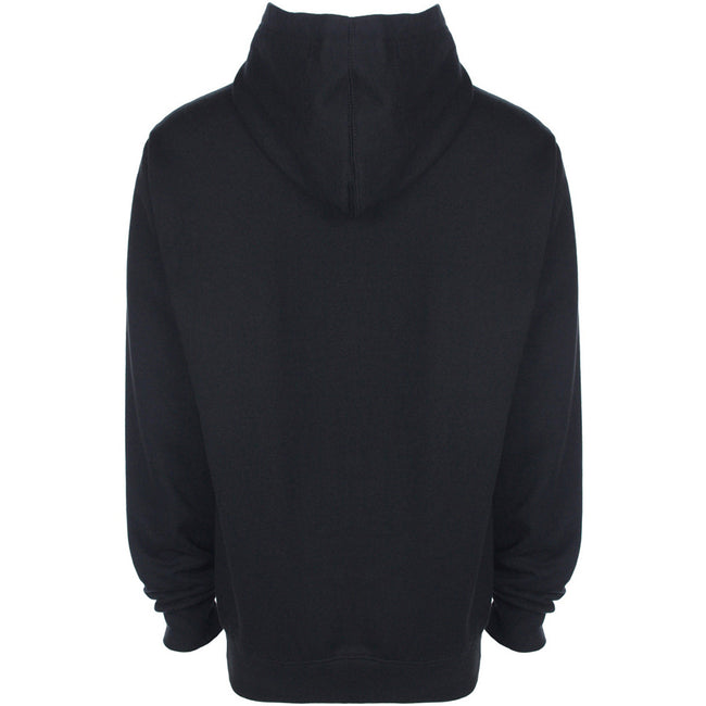 Black - Back - FDM Unisex Plain Original Hooded Sweatshirt - Hoodie (300 GSM)