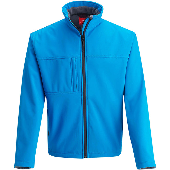Azure Blue - Side - Result Mens Softshell Premium 3 Layer Performance Jacket (Waterproof, Windproof & Breathable)