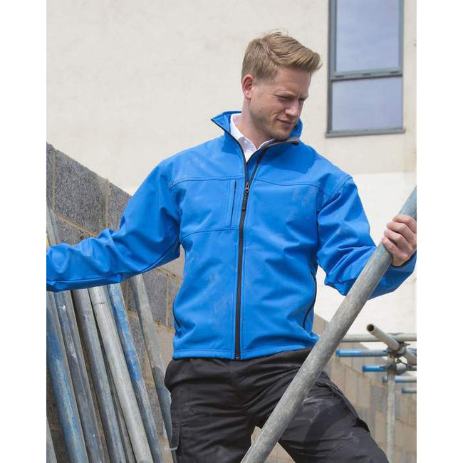 Workguard Grey - Front - Result Mens Softshell Premium 3 Layer Performance Jacket (Waterproof, Windproof & Breathable)