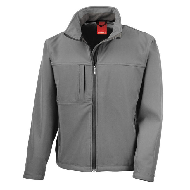 Workguard Grey - Back - Result Mens Softshell Premium 3 Layer Performance Jacket (Waterproof, Windproof & Breathable)