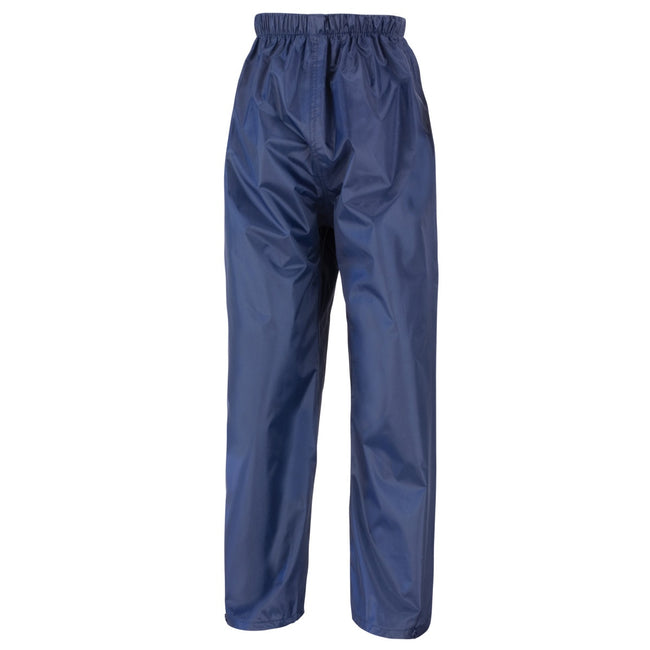 Navy Blue - Front - Result Core Kids-Childrens Unisex Stormdri Rain Over Trouser - Pants