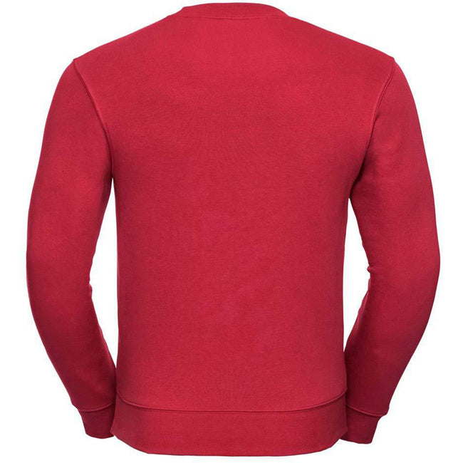 Classic Red - Back - Russell Mens Authentic Sweatshirt (Slimmer Cut)