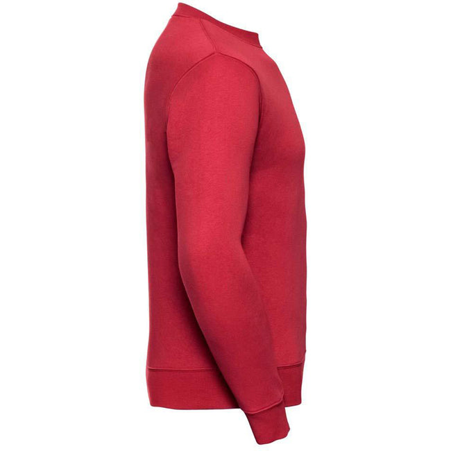 Classic Red - Side - Russell Mens Authentic Sweatshirt (Slimmer Cut)