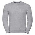Light Oxford - Front - Russell Mens Authentic Sweatshirt (Slimmer Cut)