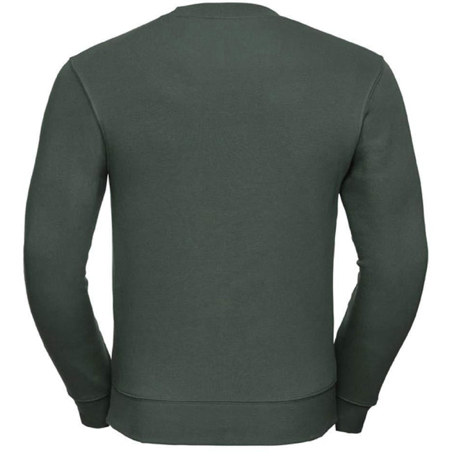 Bottle Green - Back - Russell Mens Authentic Sweatshirt (Slimmer Cut)