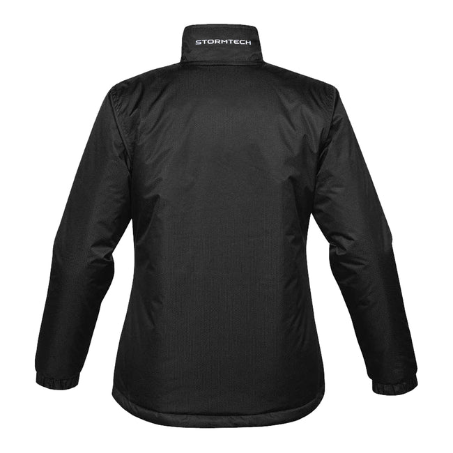Black-Orange - Back - Stormtech Ladies-Womens Axis Water Resistant Jacket