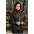Black-Orange - Side - Stormtech Ladies-Womens Axis Water Resistant Jacket