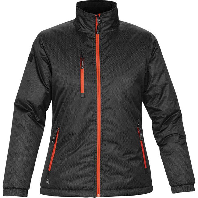 Black-Orange - Front - Stormtech Ladies-Womens Axis Water Resistant Jacket