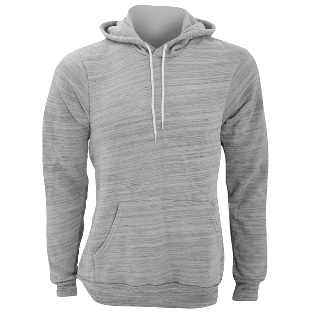 Light Grey Marble Fleece - Front - Canvas Unisex Pullover Hooded Sweatshirt - Hoodie