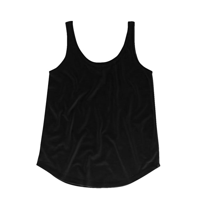 Soft Olive - Back - Mantis Womens-Ladies Loose Fit Sleeveless Vest Top