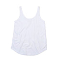 White - Front - Mantis Womens-Ladies Loose Fit Sleeveless Vest Top