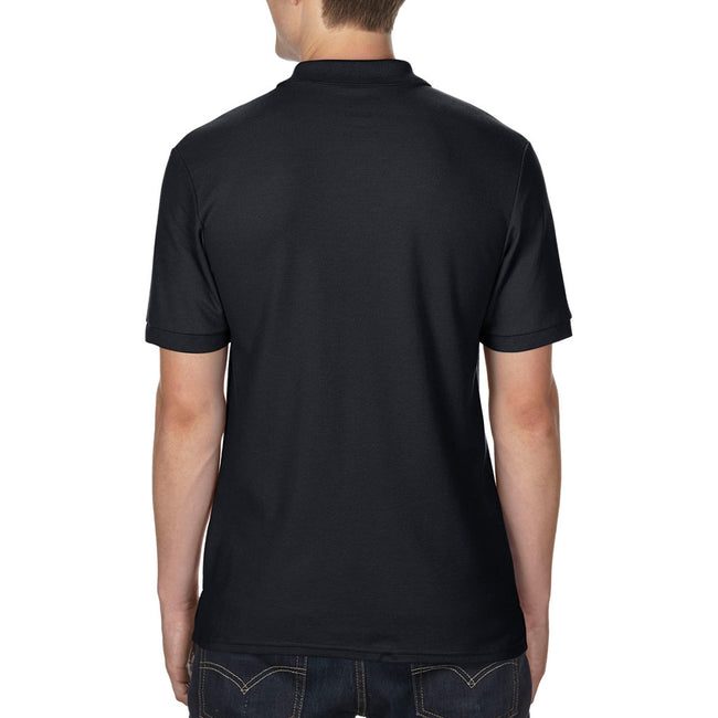 Black - Side - Gildan Mens DryBlend Adult Sport Double Pique Polo Shirt