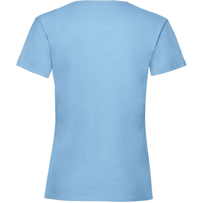 Sky Blue - Back - Fruit Of The Loom Girls Childrens Valueweight Short Sleeve T-Shirt