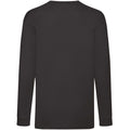 Dark Heather - Back - Fruit Of The Loom Childrens-Kids Long Sleeve T-Shirt