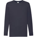 Deep Navy - Front - Fruit Of The Loom Childrens-Kids Long Sleeve T-Shirt