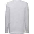 Heather Grey - Back - Fruit Of The Loom Childrens-Kids Long Sleeve T-Shirt