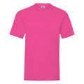 Fuchsia - Back - Fruit Of The Loom Mens Valueweight Short Sleeve T-Shirt
