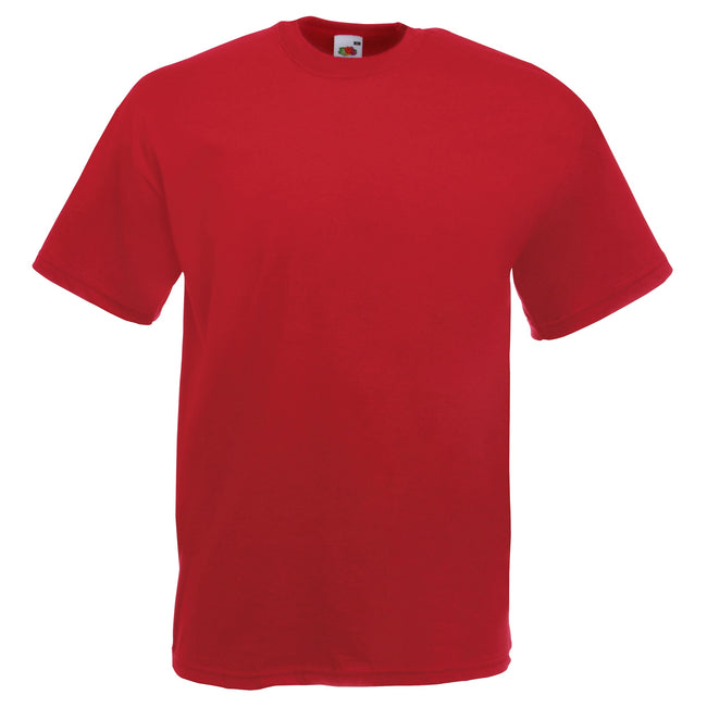 Brick Red - Front - Fruit Of The Loom Mens Valueweight Short Sleeve T-Shirt