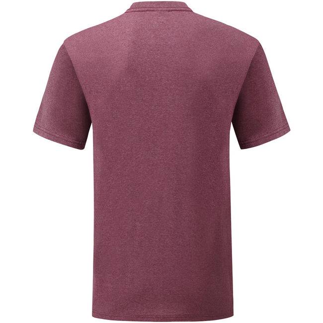 Heather Burgundy - Back - Fruit Of The Loom Mens Valueweight Short Sleeve T-Shirt