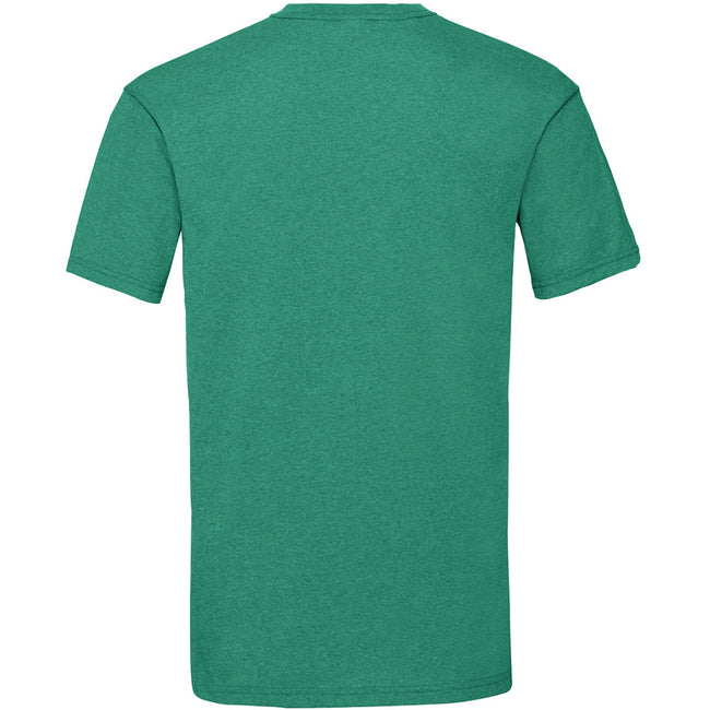Retro Heather Green - Back - Fruit Of The Loom Mens Valueweight Short Sleeve T-Shirt