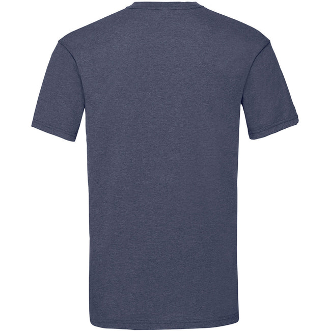 Vintage Heather Navy - Back - Fruit Of The Loom Mens Valueweight Short Sleeve T-Shirt
