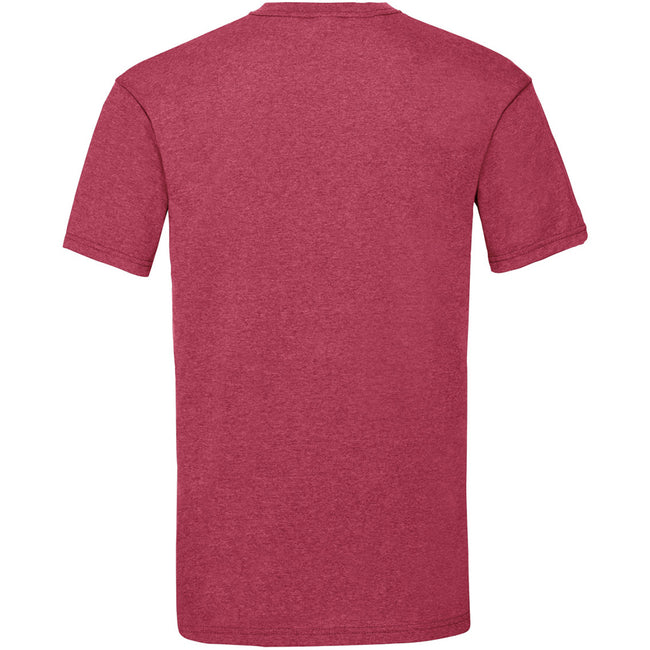 Vintage Heather Red - Back - Fruit Of The Loom Mens Valueweight Short Sleeve T-Shirt