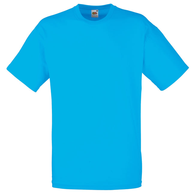 Azure Blue - Front - Fruit Of The Loom Mens Valueweight Short Sleeve T-Shirt