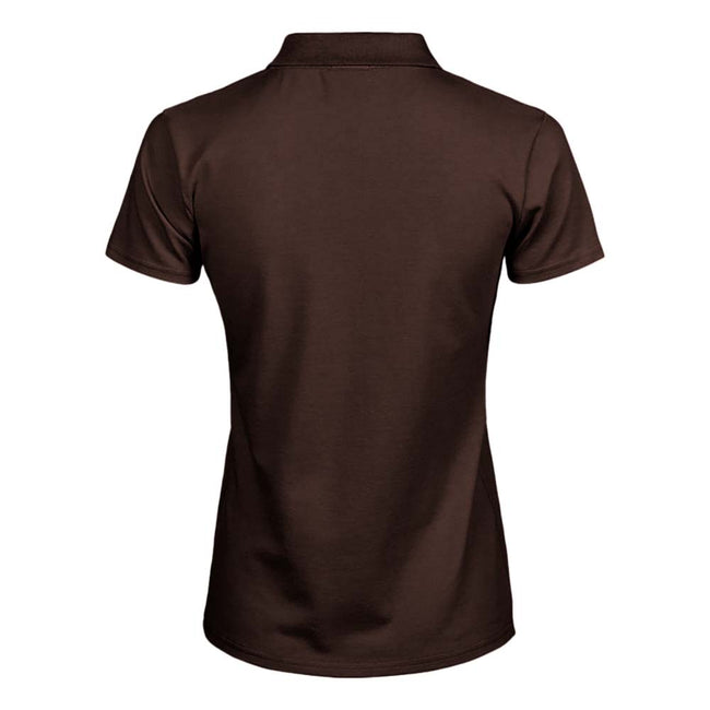 Forest Green - Front - Tee Jays Womens-Ladies Luxury Stretch Short Sleeve Polo Shirt