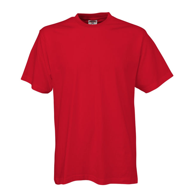 Red - Front - Tee Jays Mens Short Sleeve T-Shirt